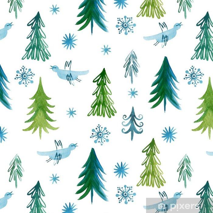 papier peint motifs arbres de no l mod le sans couture pixers nous vivons pour changer. Black Bedroom Furniture Sets. Home Design Ideas