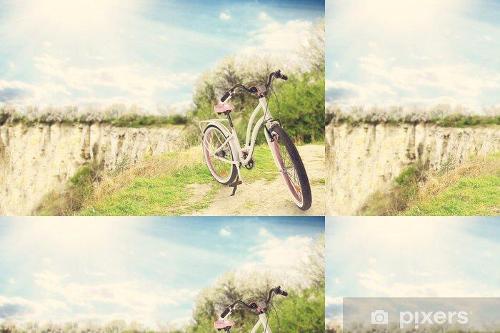 Papier peint à motifs vinyle Bicyclette - Arrière plans