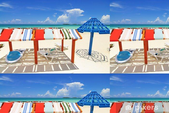 Papier Peint à Motifs Vinyle Cayo Coco Beach Island - Vacances