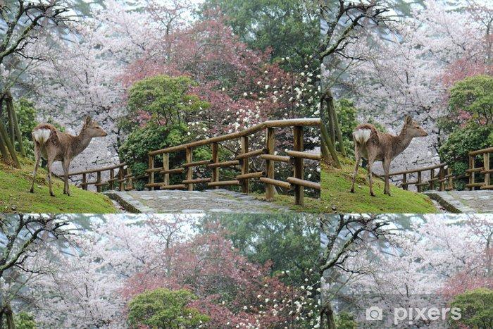 Papier peint à motifs vinyle Cerf dans Nara parc - Saisons