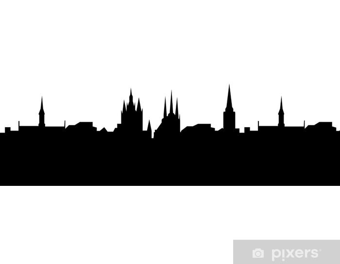Papier Peint A Motifs Erfurt Ligne De Ciel Schattenriss Avec Des