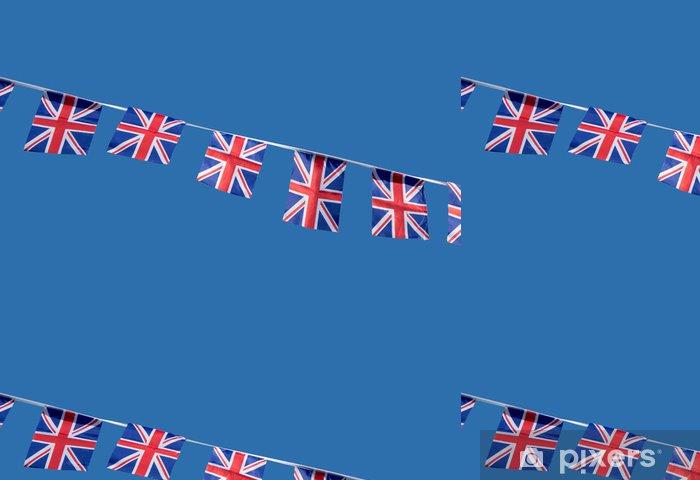 Papier peint à motifs vinyle Les petits Union Jack britannique drapeaux de célébration. - Signes et symboles