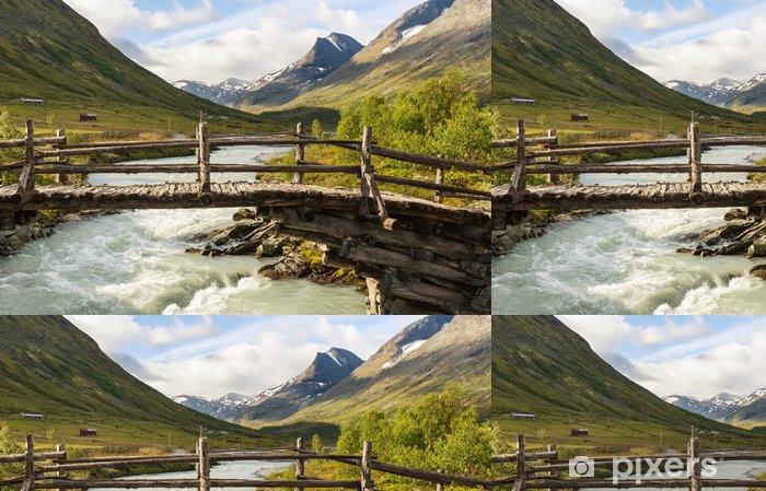 Papier peint à motifs vinyle Montagnes en Norvège - Nature et régions sauvages