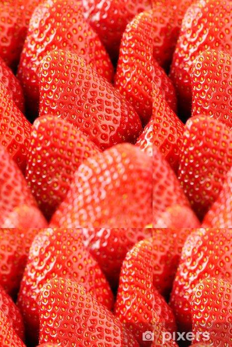 Papier peint à motifs vinyle Mûres fraîches rouge fraises gros plan - Thèmes
