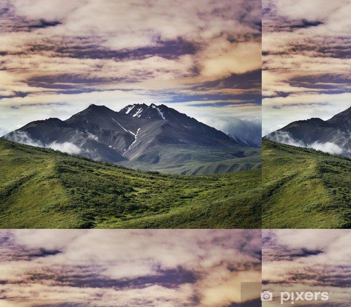 Papier peint à motifs vinyle Paysage montagne - Montagne