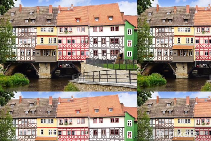 Papier Peint A Motifs Pont De Marchands Erfurt Allemagne Pixers