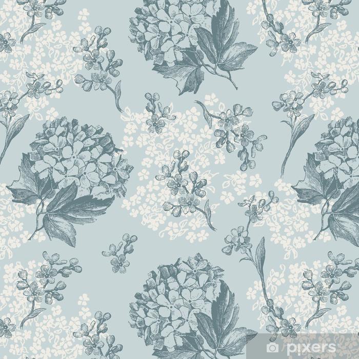 papier peint motifs r tro papier peint fleurs tuiles. Black Bedroom Furniture Sets. Home Design Ideas