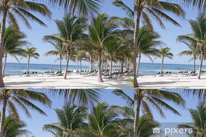 Papier peint à motifs vinyle Riviera Maya Mexico Beach - Vacances