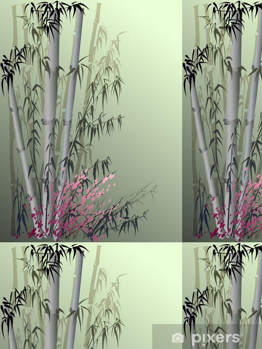 Papier Peint A Motifs Vecteur De Bambou Dans Un Style Asiatique