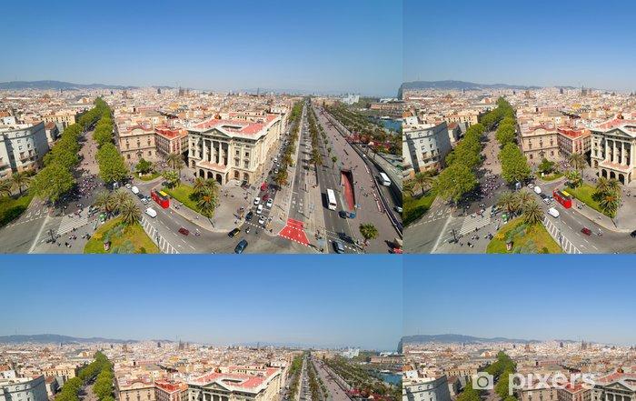 Papier peint à motifs vinyle Vue de dessus de Barcelone - Villes européennes
