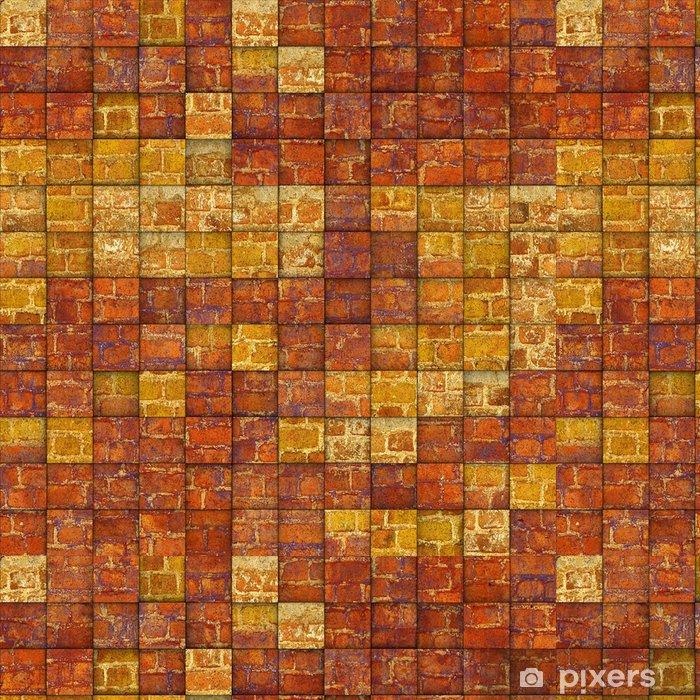 Tapete Abstrakte Mosaik Fliesen Grunge Ziegel Muster Pixers Wir