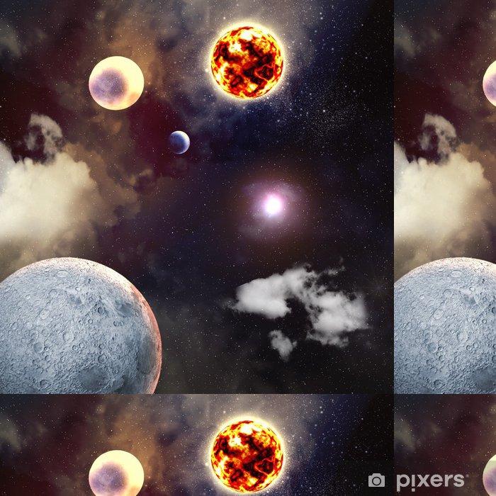 Vinyltapete Bild von Planeten im Weltraum - Universum
