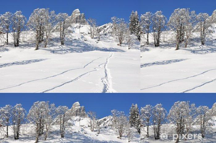 Vinyltapete Braunwald, berühmte Schweizer Skigebiet - Berge