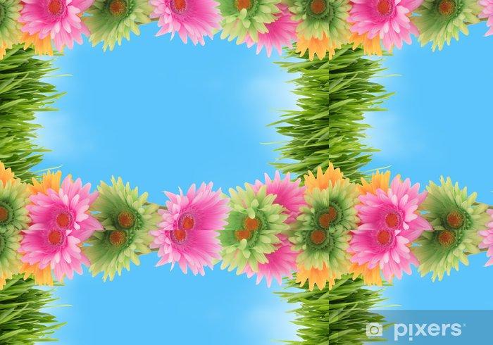 Tapete Bunte Blumen Fruhjahr Grenze Pixers Wir Leben Um Zu