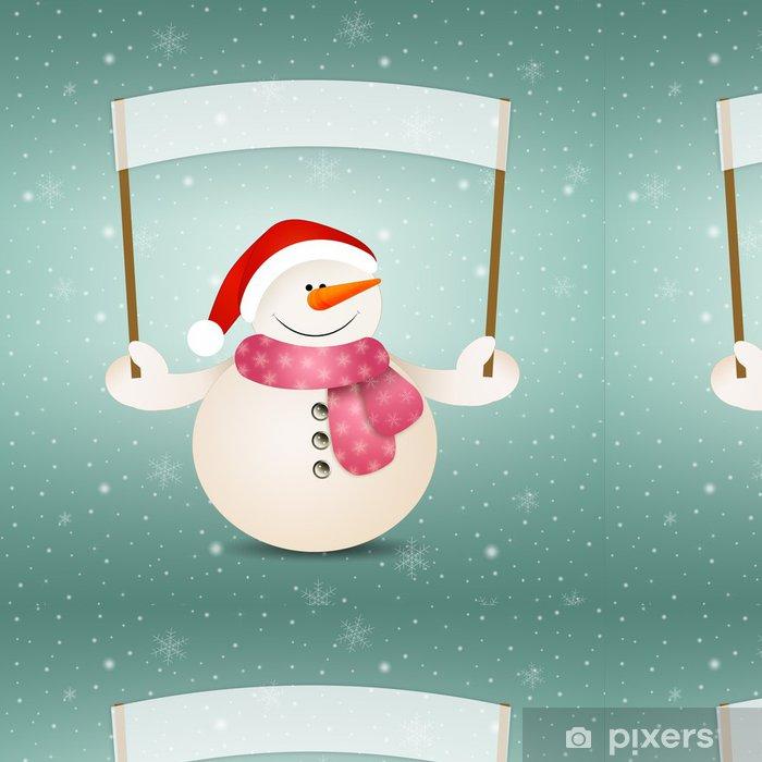 Tapete Funny Schneemann zu Weihnachten • Pixers® - Wir leben, um zu ...