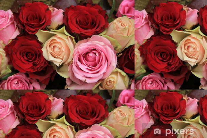 Tapete Hochzeitsblumen In Rosa Und Rot Pixers Wir Leben Um Zu