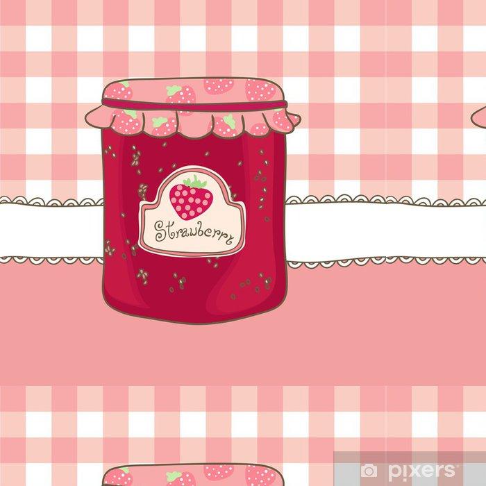Vinyltapete Köstliche hausgemachte Erdbeermarmelade - Themen