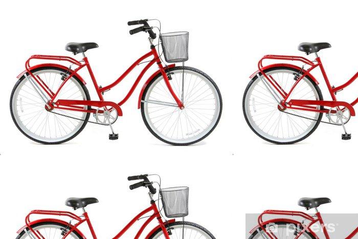 Vinyltapete Red Fahrrad über weißem Hintergrund - Straßenverkehr