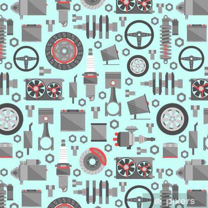 Vinyltapet Auto reservdelar seamless - Transport