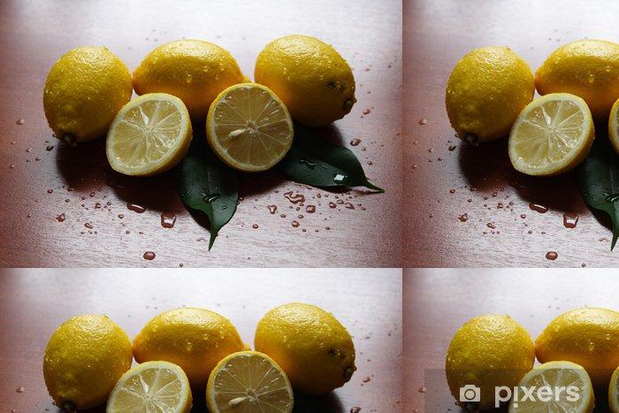 Vinyltapet Citroner - Grönsaker