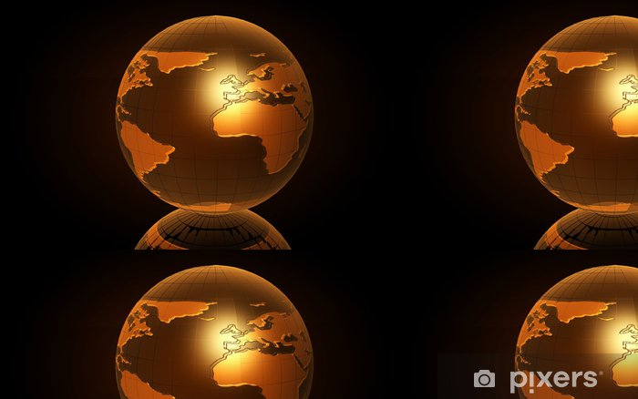 Vinyltapet Earth (3D) - Affärskoncept