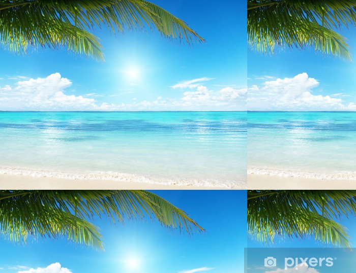 Vinyltapet Palm och hav - Vatten