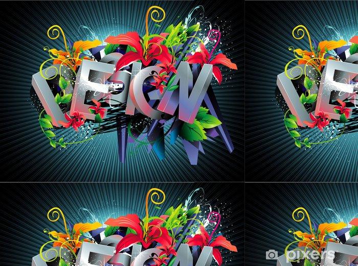 Vinyltapet Vektor textdesign illustration - Bakgrunder
