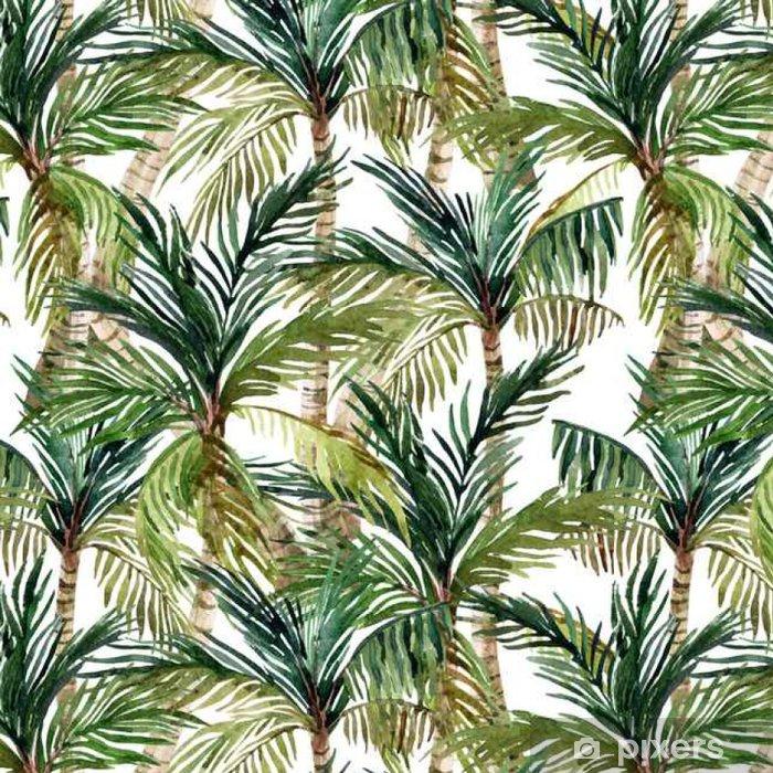 Tapeta winylowa Akwarela palma bez szwu wzór - Krajobrazy
