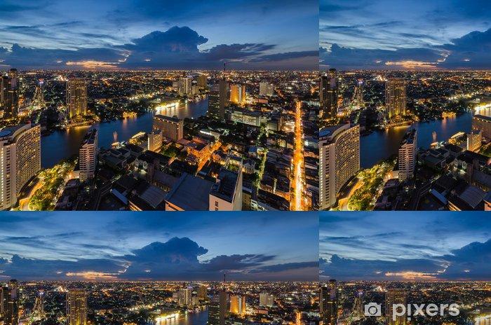 Vinylová Tapeta Bangkok panoráma města s řeku Chaophraya - Město