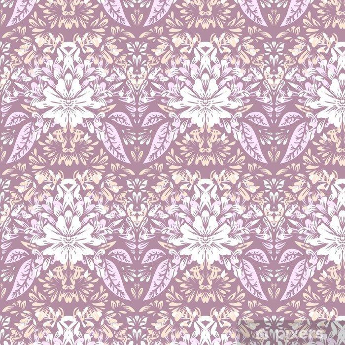Vinylová Tapeta Bezešvé vzor s lehkými elegantními květinovými motivy. - Grafika