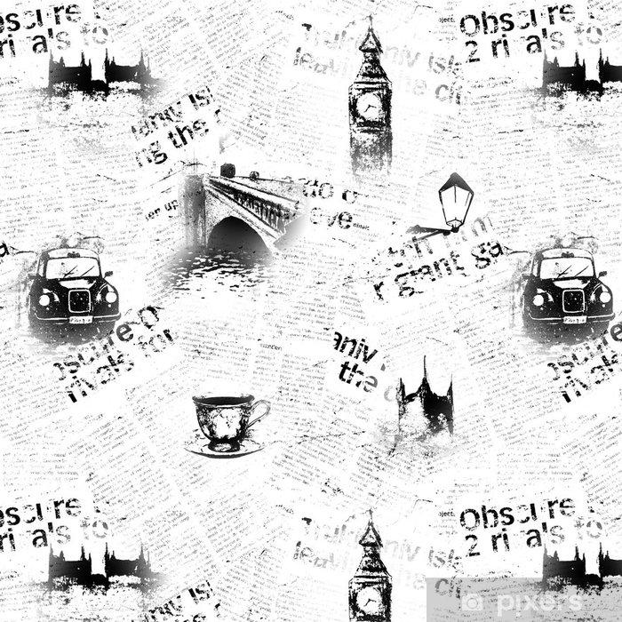 Vinylová Tapeta Černé a bílé londonové noviny na pozadí - Životní styl