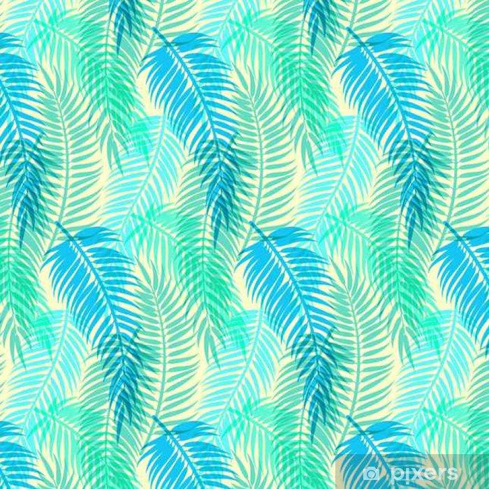 Tapeta winylowa Egzotycznych tropikalnych liści palmowych. Jednolite abstrakcyjny wektor wzór - Zasoby graficzne