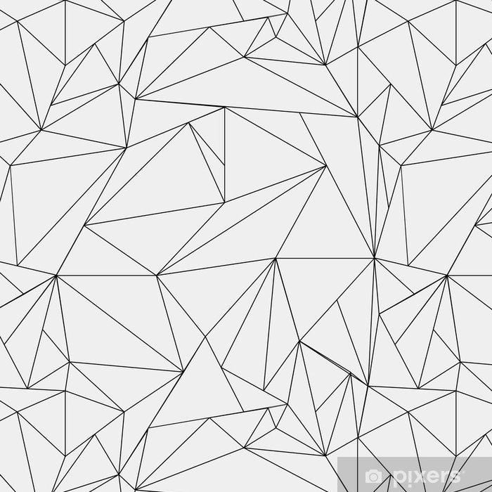 Tapeta winylowa Geometryczne proste czarno-białe minimalistyczny wzór, trójkąty lub witraż. Może być używany jako tapeta, tło lub tekstury. - Zasoby graficzne