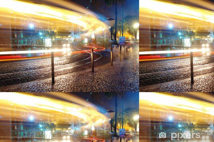 Vinylová Tapeta Lisabon v noci - Evropská města
