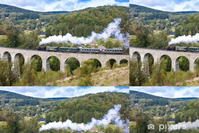 Vinylová Tapeta Parní vlak na viadukt Novina, Kryštofovo údolí, Česká republika - Témata