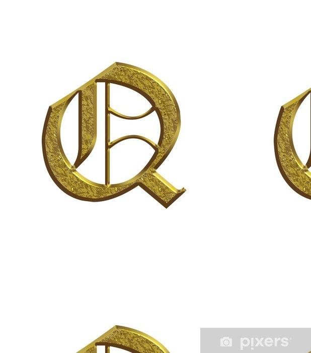 Vinylová Tapeta Q - Abeceda en nebo - Lettrine - Značky a symboly