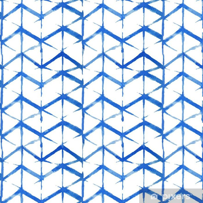 Vinylová Tapeta Shibori indigo bezešvé vzor - Grafika