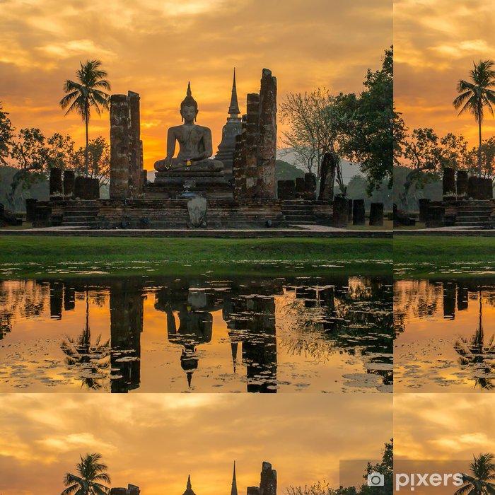 Vinylová Tapeta Socha Buddhy v chrámu Wat Mahathat chrámu, Sukhothai Historický park, - Témata
