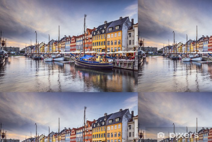 Copenhagen Denmark At Nyhavn Canal Vinyl Wallpaper
