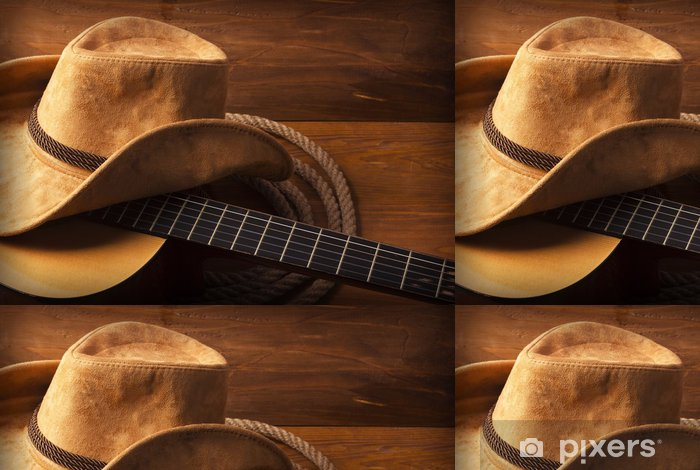 Country Music Background With Guitar Vinyl Wallpaper