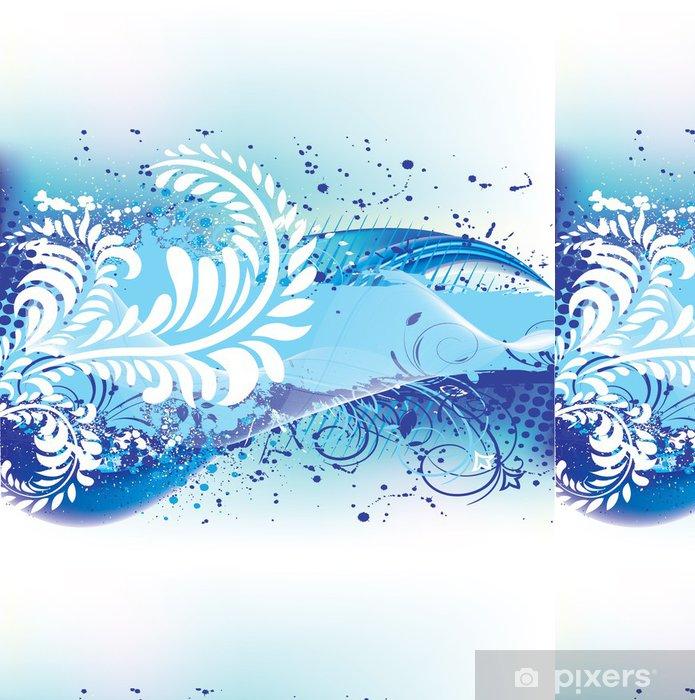 grunge floral background Vinyl Wallpaper - Textures