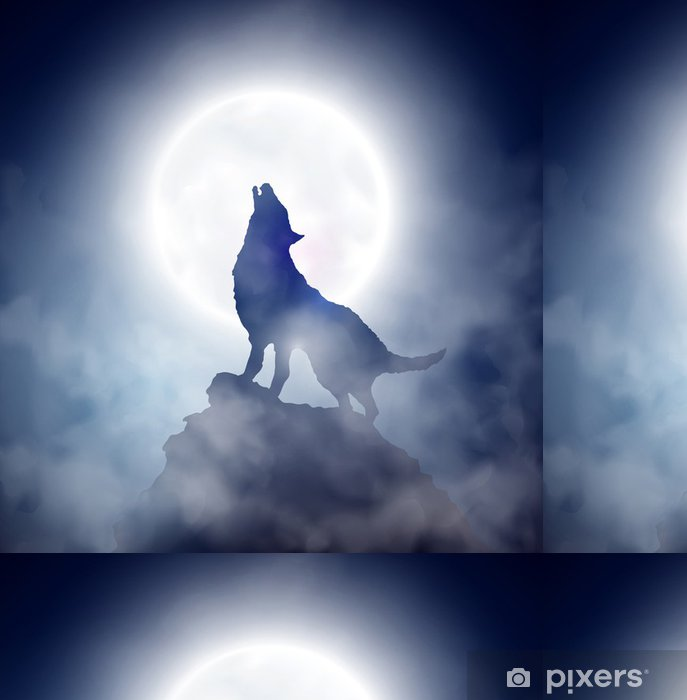Howling Wolf Vinyl Wallpaper