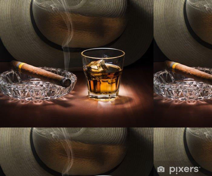 Rum And Cigar Vinyl Wallpaper