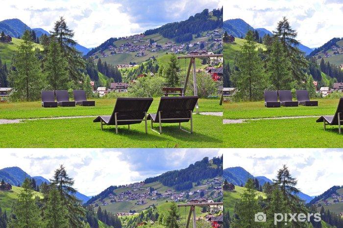 Summer resort in mountains Vinyl Wallpaper - Countryside