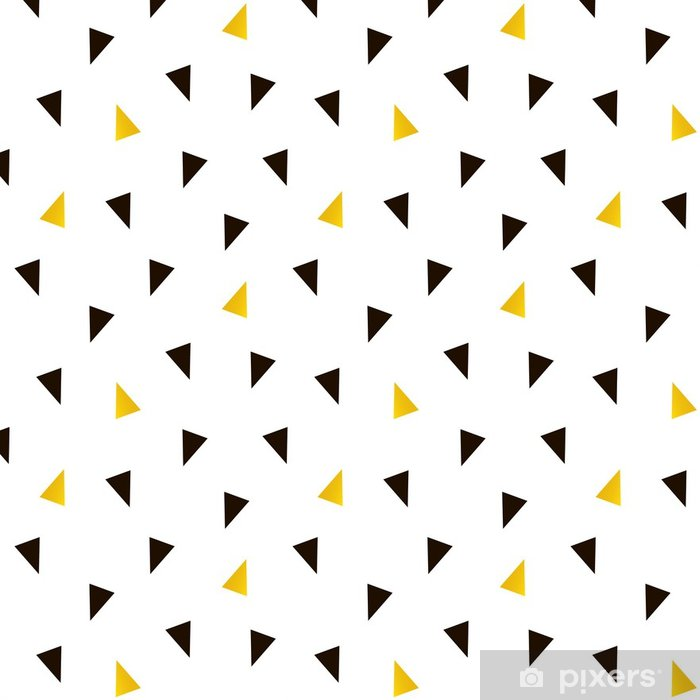Trendy Black And Gold Triangle Seamless Pattern Background Vinyl Wallpaper