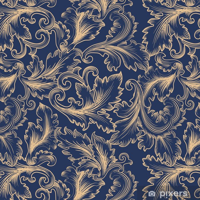 Vector Seamless Pattern In Baroque Style Vintage Background For Invitation Fabrics Vinyl Wallpaper