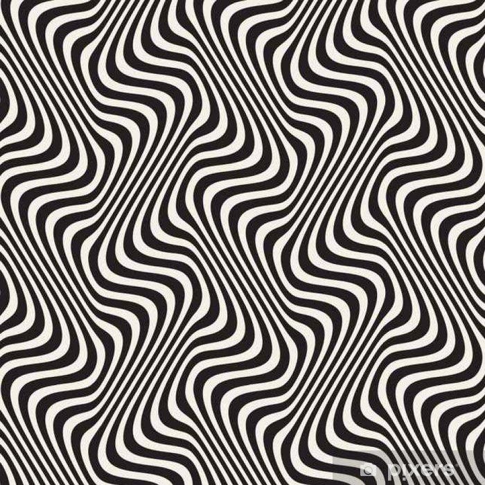 Vector Seamless Black And White Pattern Vinyl Wallpaper