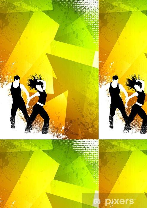 Zumba Dance Fitness Vinyl Wallpaper