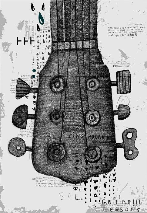 Naklejka na Drzwi Гриф от гитары - Hobby i rozrywka