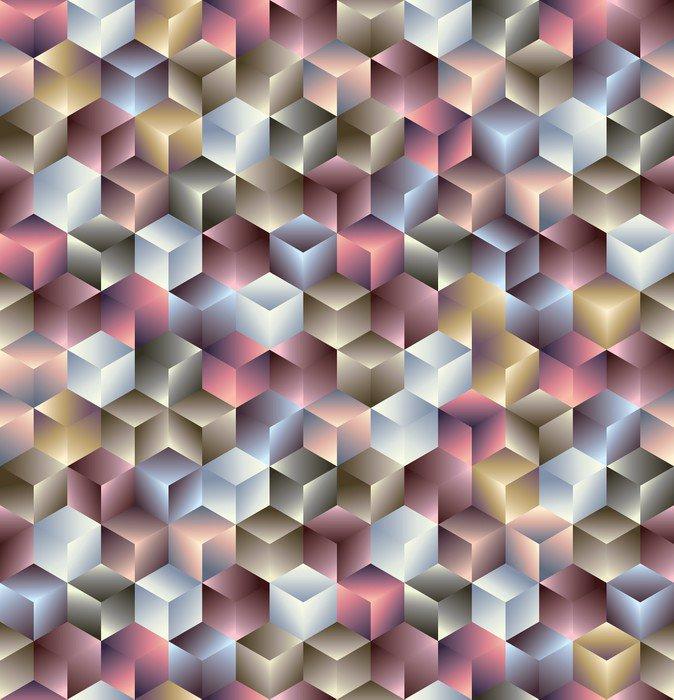 3d kostki geometryczne bez szwu deseń.
